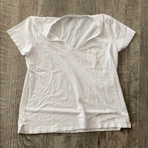 MADEWELL White V Neck T-Shirt